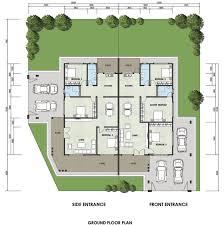semi detached floor plans semi detached house plans malaysia philippines modern duplex
