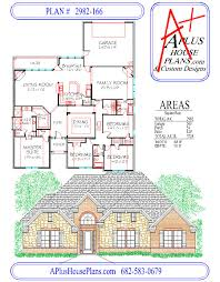 house plan 2982 166 traditional brick stone front elevation