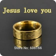 men s religious jewelry new 12x jesus you gold tone cross stainless steel rings men s