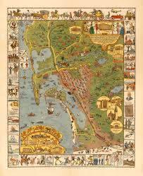 Map Of San Diego California by San Diego California 1928 Jo Mora Carte Battlemaps Us
