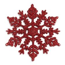shop 6pcs pack plastic glitter snowflakes ornaments for