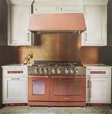 antique copper kitchen rustic cabinets simple backsplash tiled inspiring copper coloured kitchen appliances pictures decoration ideas
