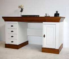 Kiefer Schreibtisch Schreibtisch 143x77x65cm 4 Schubladen 1 Tür Kiefer Massiv