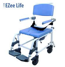 Shower Chair On Wheels Aluminum Shower Rehab Commode Chair