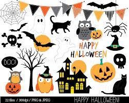 Cute Halloween Icons Halloween Clipart Haloween Owl Clip Art Bunting Spider Pumpkin