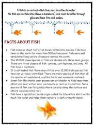 fish facts and worksheets kidskonnect