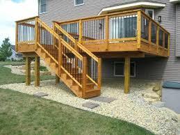 Deck Stairs Design Ideas Cedar Stair Railing Deck Staircase Design Ideas Home With Log