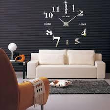Wohnzimmer M El Ebay Diy Wanduhr 3d Spiegel Design Wohnzimmer Wandschmuck Groß Uhr