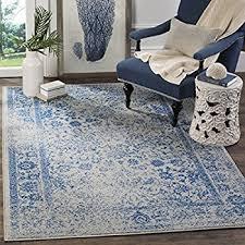 Blue And Grey Area Rug Amazon Com Safavieh Evoke Collection Evk220c Vintage Oriental