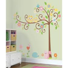room mates abc tree giant wall decal reviews wayfair haammss roommates rmk1439slm scroll tree peel stick wall decal megapack decorative appliques amazon com diy home