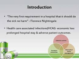 bmw hospital infection bmw management standard precaution