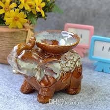 vintage ceramic elephant fragrance oil burner aromatherapy lamp