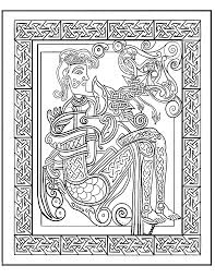 celtic man and beast coloring page by lorrainekelly on deviantart