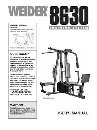 weider 8510 home gym workouts workout schedule