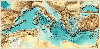Mediterranean Sea World Map by Bathymetry Of The Mediterranean Sea 14958 7302 Mapporn