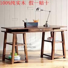 bureau massif moderne vintage bois massif tables moderne et minimaliste ordinateur de