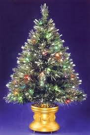 small lighted christmas trees rainforest islands ferry