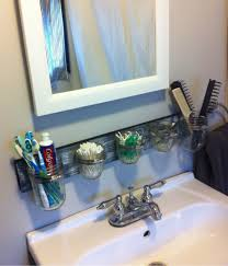 Bathroom Counter Storage Ideas 13 Tricks People Who Bathroom Clutter Swear By Mason Jar
