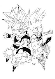 dragon ball z battle of gods coloring pages and omeletta me