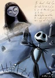 jack and sally the nightmare before christmas tim burton