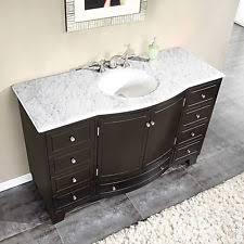 55 Bathroom Vanity 55 Inch White Marble Countertop Bathroom Vanity Single Sink