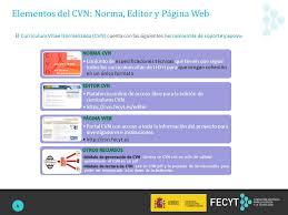 curriculum vitae pdf formato unico curriculum vitae normalizado cvn ppt video online descargar