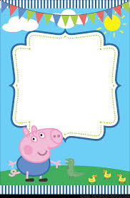 convites gratuitos da peppa pig george pig pig party pig