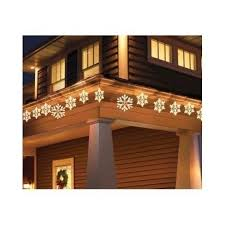 twinkling snowflake icicle decoration lights clear 9