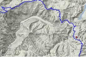 nantahala river map s creek gap to fontana dam