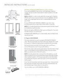 Flashing Patio Door by 13n80000 Door Sensor User Manual Users Manual Pella Corporation