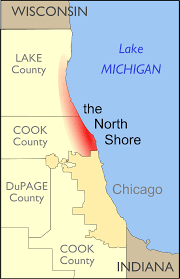 Map Of Chicago Airport North Shore Chicago Wikipedia