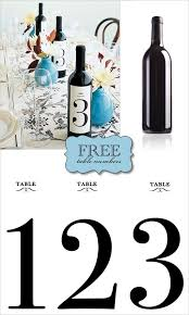 diy do it yourself wine labels wine label table number print