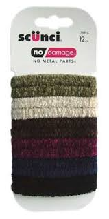 scunci hair ties scunci 12 no damage flat chenille hair ties