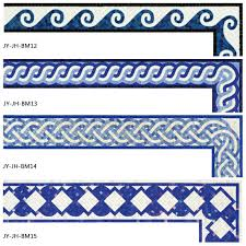 Bathroom Tile Border Ideas Colors Decorative Handmade Swimming Pool Border Tile Floor Border Tiles
