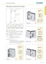 Shower Door Hinges 988 Series Shower Door Hinges Gulf Industrial Limited