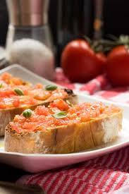 cuisine tomate bruschetta pan con tomate scrummy