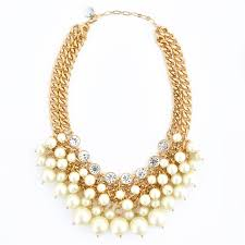 crystal drop necklace images Crystal and pearl drop necklace chunky pearl statement necklace jpg