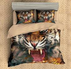 Tiger Comforter Set 3d Customize Doberman Bedding Set Duvet Cover Set Bedroom Set