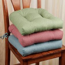 combination between blue and rose color kitchen chair cushion with