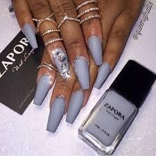 concrete gray coffin nails and nail nail