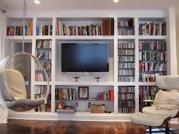 contemporary built in bookshelves