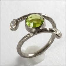 artisan engagement rings bespoke peridot and white gold artisan engagement ring