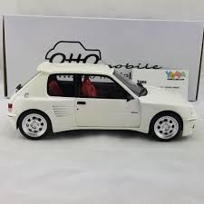 peugeot canada otto 1 18 peugeot 205 dimma white resin model car ot681 u2013 yomacarmodel