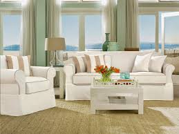 Canvas Sofa Slipcover Decorating Amazing Sofa With White Surefit Cover On Wooden Floor
