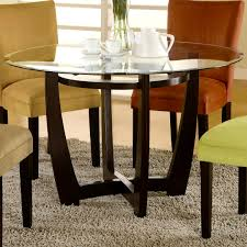Glass Round Dining Table For 6 Accessories Marvellous Ashland Glass Round Dining Table Solid