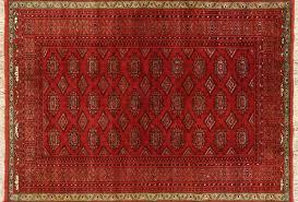Red Oval Rug 4 X 6 Oriental Wool U0026 Silk Bokhara Persian Rug W1858