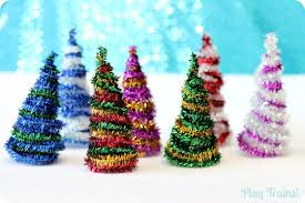 diy pipe cleaner trees craft