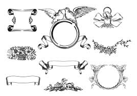 engraved ribbon engraved banner and ribbon brushes pack free photoshop brushes
