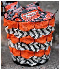 simple diy halloween treat basket sweet lil you