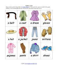 memory clothes bingo clothes cardseasy